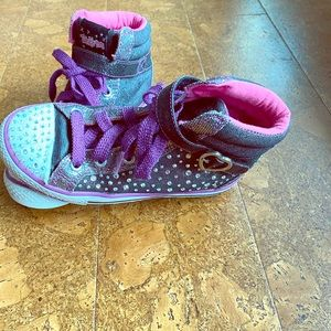 Girls Skechers Twinkle Toes high tops size 1
